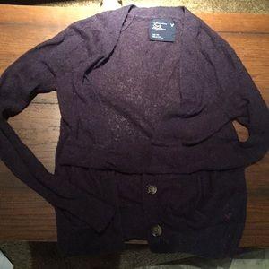 American Eagle Purple Cardigan